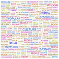 Culture word cloud concept illustration wordcloud collage Stock Photography