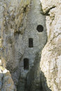 Culver hole medieval dovecote in a cave gower peninsula rumoured to be smuggler was dating back to thirteenth or fourteenth Royalty Free Stock Photography
