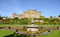Culzean castle fountain and lawns ayrshire scotland Royalty Free Stock Photo