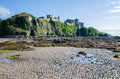 Culzean castle view on from north sea beach Royalty Free Stock Image