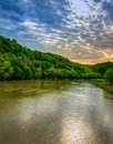 Cumberland river scenic view of with dramatic sky Stock Photos