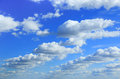 Cumulus clouds in sky blue Royalty Free Stock Photo