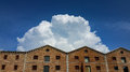 Cumulus congestus, Barcelona. Royalty Free Stock Photo