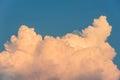 Cumulus congestus cloud on a blue sky. Royalty Free Stock Photo