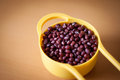 Cup of adzuki beans Royalty Free Stock Photo
