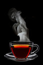 Cup of black tea Royalty Free Stock Photo