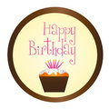 Cup cake happy birthday Royalty Free Stock Photo