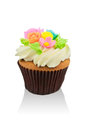 Cup cake a isolated on white background Stock Photos