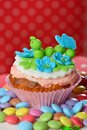 Cup cake on the plate Stock Photo