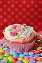 Cup cake on the plate Royalty Free Stock Photography