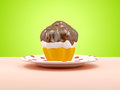 Cup cake on a plate Royalty Free Stock Photo