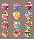 Cup-cake stickers Royalty Free Stock Photo