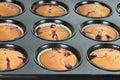 Cup-cakes de Prepering Imagens de Stock Royalty Free