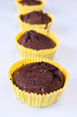 Cup cakes sweet with chocolated and coffee Stock Photography