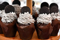 Cup cakes with whipped cream Royalty Free Stock Photo