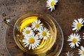 A cup of camomile tea Royalty Free Stock Photo