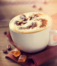 Cup of cappuccino or latte coffee Stock Photography