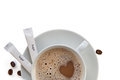 Cup of cappucino coffee Royalty Free Stock Photo