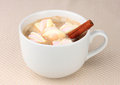 Cup of cappucino with marshmallows Royalty Free Stock Image