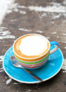 A cup of Capuchino coffee Royalty Free Stock Photos
