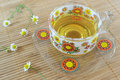 Chamomile tea cup Royalty Free Stock Photo