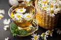 Cup of chamomile tea Royalty Free Stock Photo