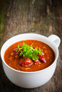 A cup of chili con carne Stock Image