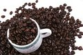 Cup of Coffee Bean Royalty Free Stock Photos