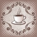Cup of coffee on beans background vector illustration Stock Photo