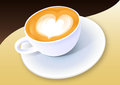 Cup of coffee on brown background vector Royalty Free Stock Photography