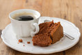 Cup of coffee with cake Royalty Free Stock Photo