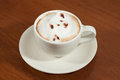 A Cup Of Coffee Cappuccino Wit...