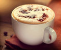 Cup of coffee cappuccino latte Stock Photography