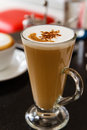 Cup of coffee Cappuccino or latte Royalty Free Stock Photos