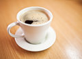 Cup of coffee close up photo Stock Photography