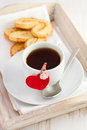 Cup of coffee with heart Royalty Free Stock Photo