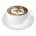 Cup coffee, insulated on white background raster Royalty Free Stock Photos