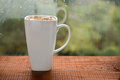 Cup of coffee with marshmallows Royalty Free Stock Photo