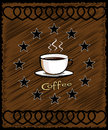 Cup of coffee - menu for restaurant, cafe Royalty Free Stock Image