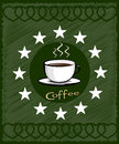 Cup of coffee - menu for restaurant, cafe Royalty Free Stock Photography