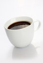 Cup of coffee over white Stock Images