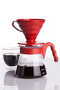 Cup of coffee and pour over shallow dof Stock Photos
