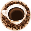Cup coffee scalable vectorial image representing a isolated on white Stock Photos
