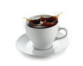 Cup of coffee with splash Royalty Free Stock Photos