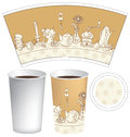 Cup for coffee template paper and tea Royalty Free Stock Photos