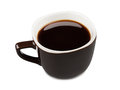 Cup of coffee on a white background Stock Images