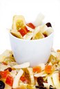 Cup and dried fruits Stock Photography