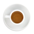 Cup of greek turkish coffee isolated on white background Stock Photography