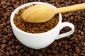 Cup of ground coffee Royalty Free Stock Photo