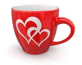 Cup with hearths clipping path included image of image Stock Images